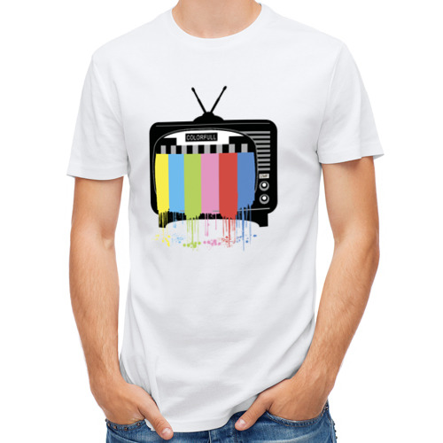 Мужская футболка полусинтетическая  Фото 01, Телевизор