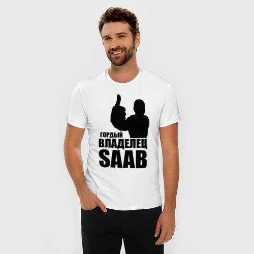 Мужская футболка премиум  Фото 03, Гордый владелец Saab