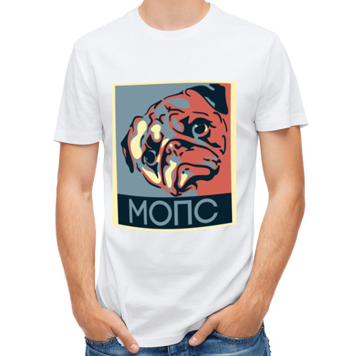Мужская футболка полусинтетическая  Фото 01, Мопс