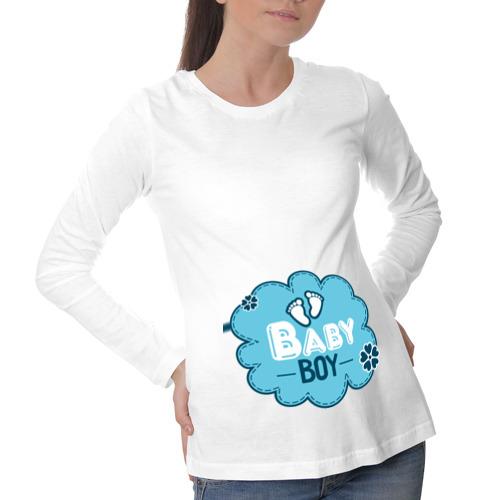 Лонгслив для беременных хлопок  Фото 01, Boy