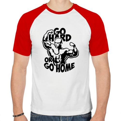 Мужская футболка реглан  Фото 01, Go hard or go home