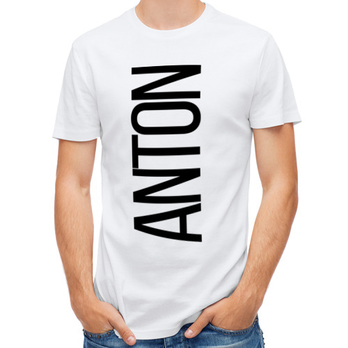Мужская футболка полусинтетическая  Фото 01, Антон