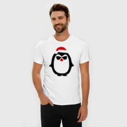 Крутой пингвин дед мороз