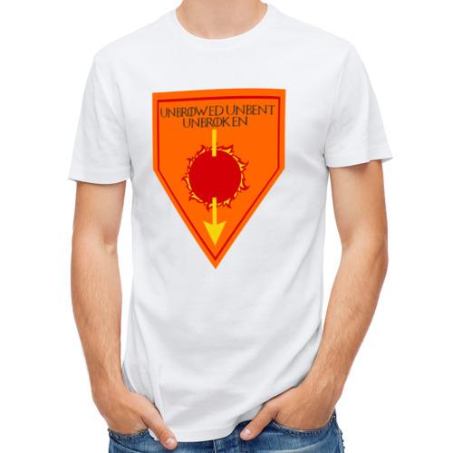 Мужская футболка полусинтетическая  Фото 01, Unbrowed Unbent Unbroken