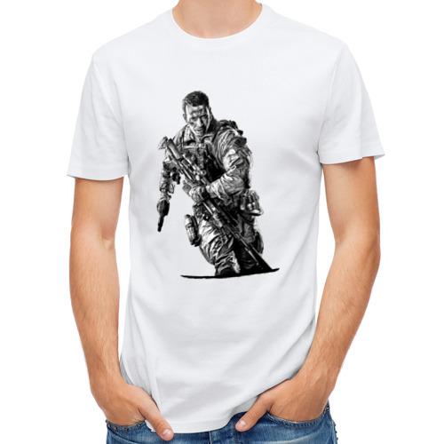 Мужская футболка полусинтетическая  Фото 01, Солдат
