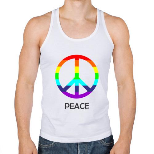 Мужская майка борцовка  Фото 01, Мир (Peace). Пацифик