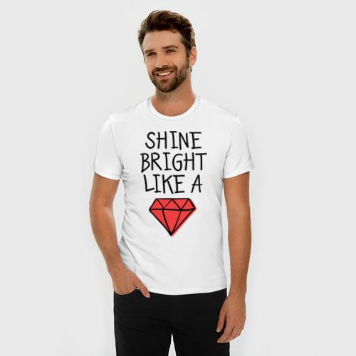 Мужская футболка премиум  Фото 03, Shine bright like a diamond