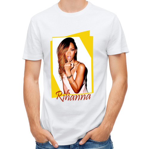 Мужская футболка полусинтетическая  Фото 01, Rihanna