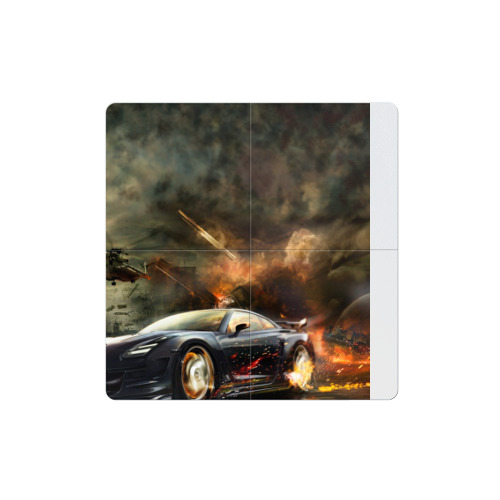 Магнитный плакат 2Х2 Nissan GTR