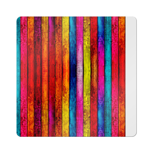 Магнит виниловый Квадрат Цветные доски