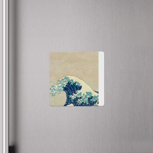 Магнит виниловый Квадрат Большая волна в Канагаве Фото 01
