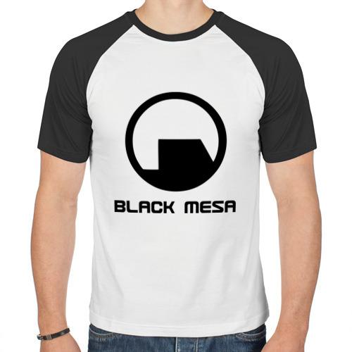 Мужская футболка реглан  Фото 01, Black mesa