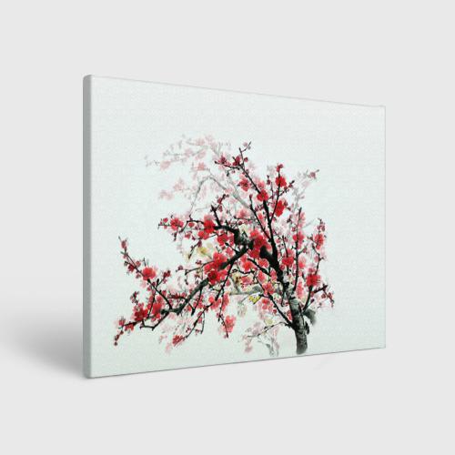 Холст прямоугольный Дерево в цвету
