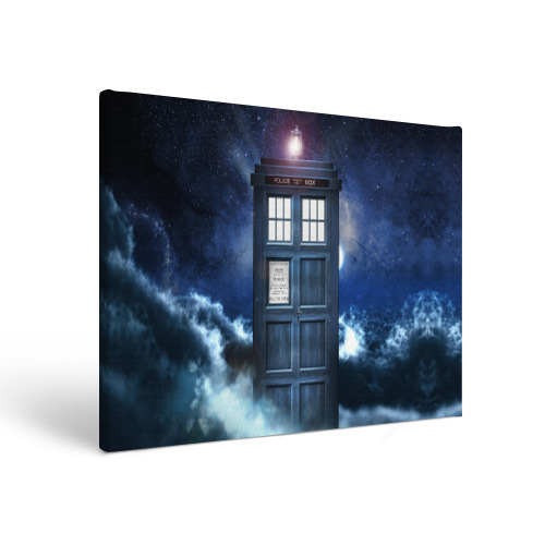 Холст прямоугольный TARDIS