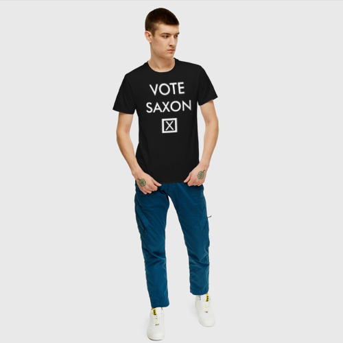 Мужская футболка хлопок Vote Saxon Фото 01