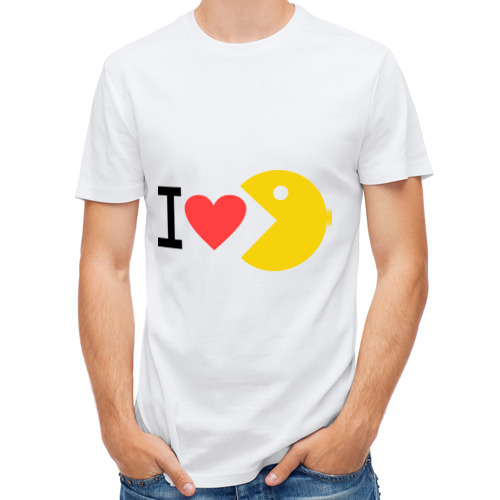 Мужская футболка полусинтетическая  Фото 01, I love Packman