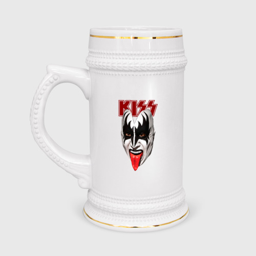 Кружка пивная  Фото 01, Kiss