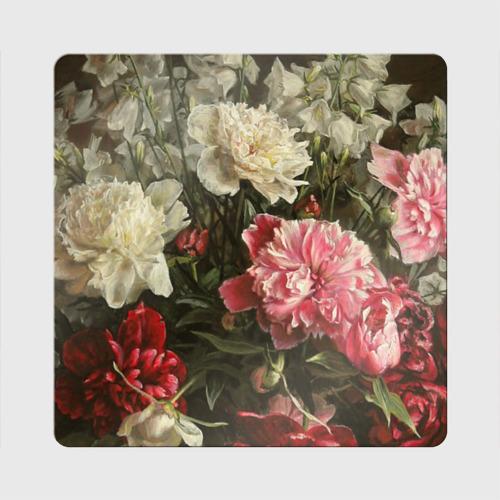 Магнит виниловый Квадрат Цветы