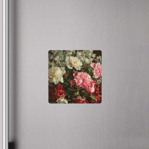 Магнит виниловый Квадрат Цветы Фото 01