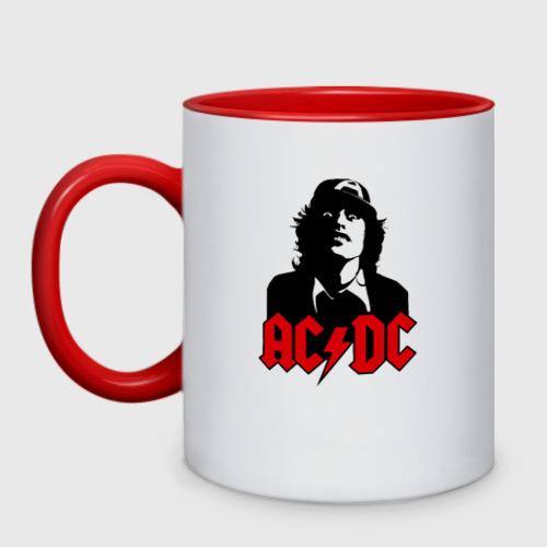 Кружка двухцветная AC DC