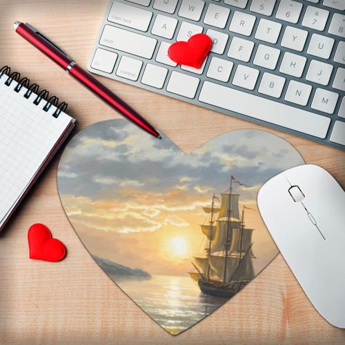 Коврик для мыши сердце  Фото 02, Корабль