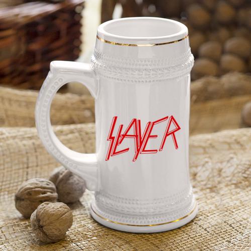 Кружка пивная  Фото 04, Slayer logo