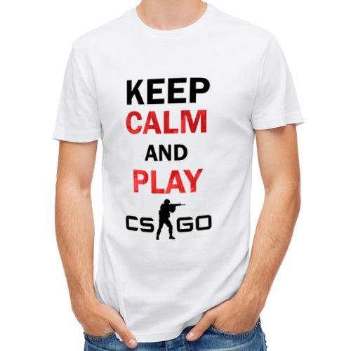 Мужская футболка полусинтетическая  Фото 01, Keep Calm and play cs:go