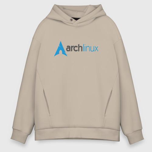 Мужское худи Oversize хлопок Arch Linux Фото 01