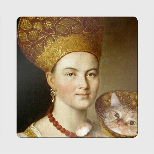 Магнит виниловый Квадрат Портрет неизвестной дамы