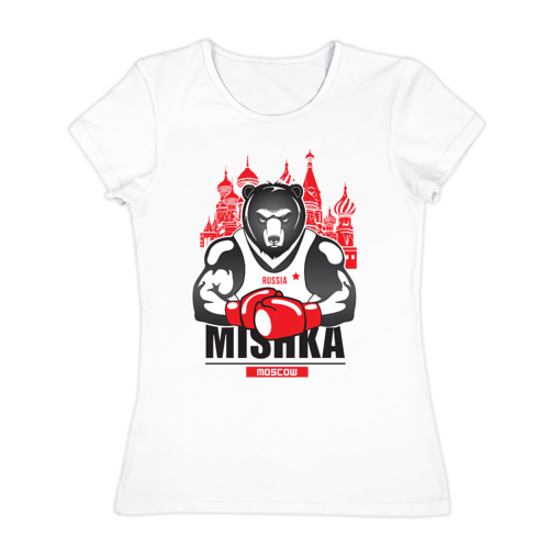 Женская футболка хлопок Мишка