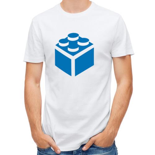 Мужская футболка полусинтетическая  Фото 01, Lego block