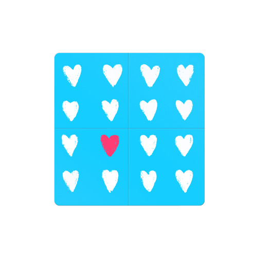 Магнитный плакат 2Х2 Hearts