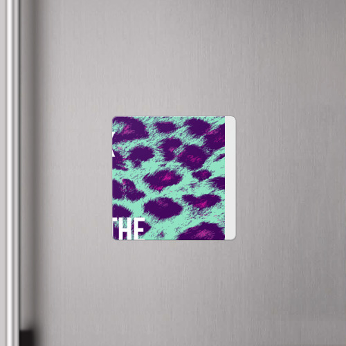 Магнит виниловый Квадрат  Фото 04, Leopard