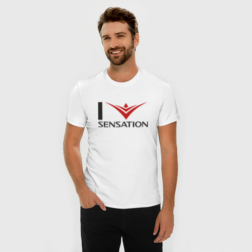 Мужская футболка премиум  Фото 03, i love Sensation