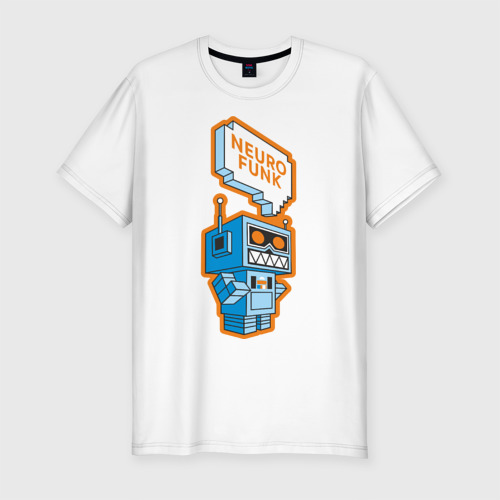 Мужская футболка премиум Neurofunk Robot