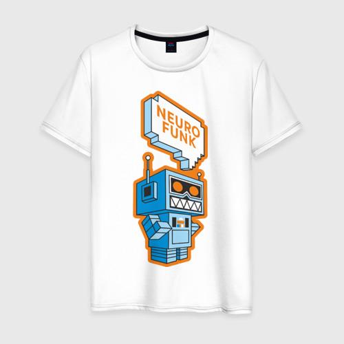 Мужская футболка хлопок Neurofunk Robot