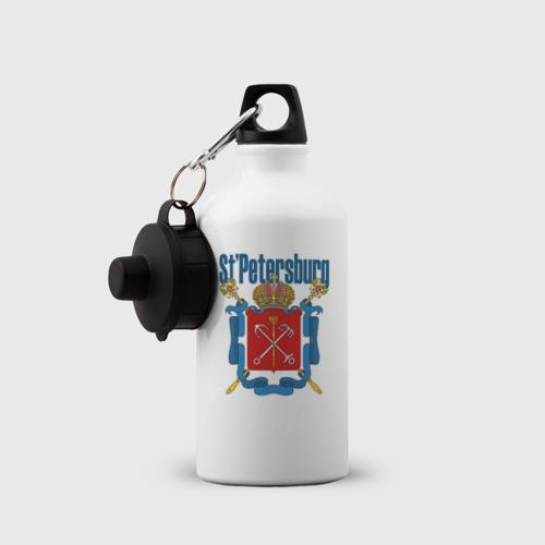 Бутылка спортивная  Фото 03, Спб герб синяя база