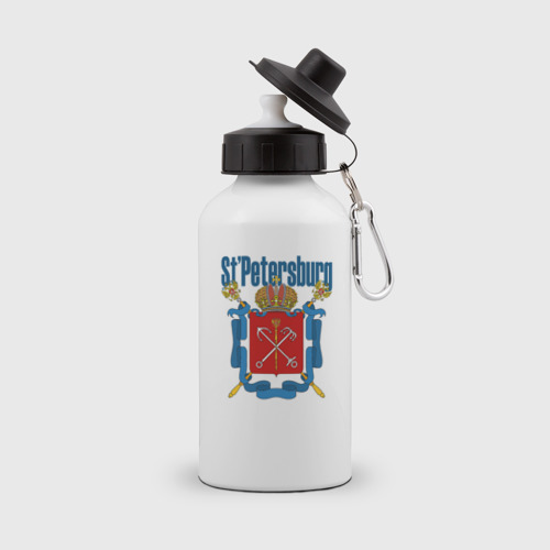 Бутылка спортивная  Фото 01, Спб герб синяя база