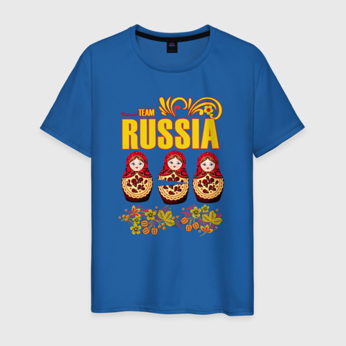 Мужская футболка хлопок National team Russia Фото 01
