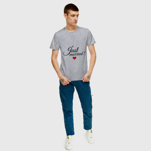 Мужская футболка хлопок Молодожёны Фото 01