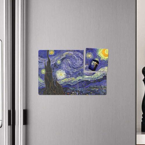 Магнитный плакат 3Х2 Ван Гог Тардис Фото 01
