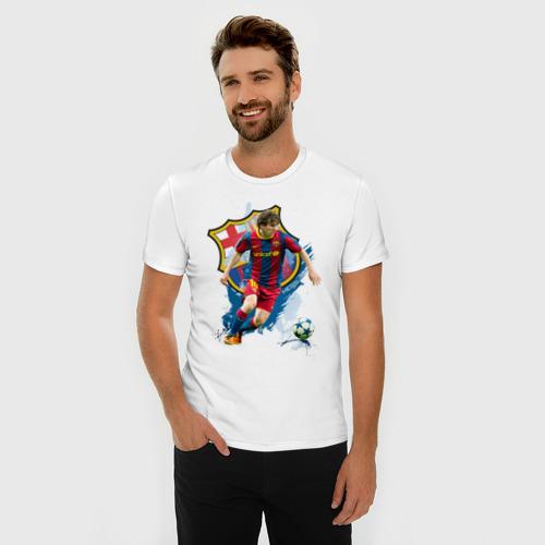 Мужская футболка премиум  Фото 03, Messi