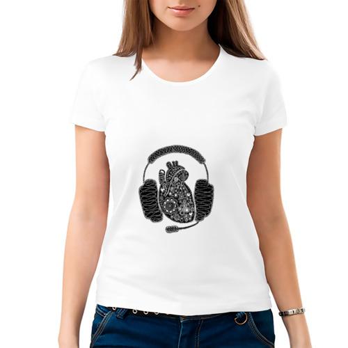 Женская футболка хлопок  Фото 03, слушай сердцем  (автор nimfa)