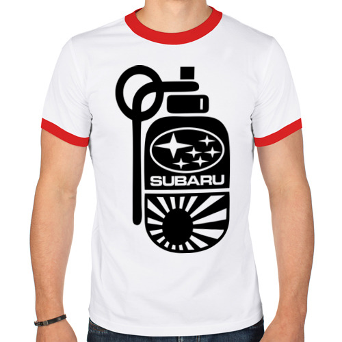 Мужская футболка рингер  Фото 01, Subaru