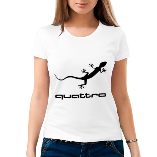 Женская футболка хлопок  Фото 03, Audi quattro