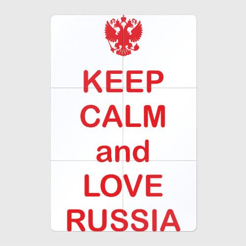 Магнитный плакат 2Х3 KEEP CALM and LOVE RUSSIA