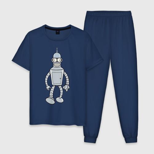Мужская пижама хлопок BENDER (color) Фото 01