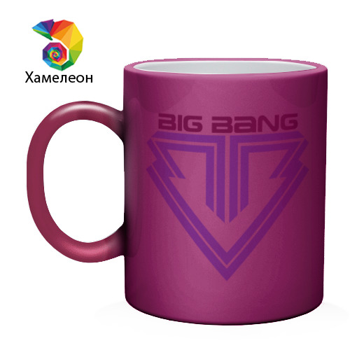 Кружка хамелеон  Фото 02, Big bang logo