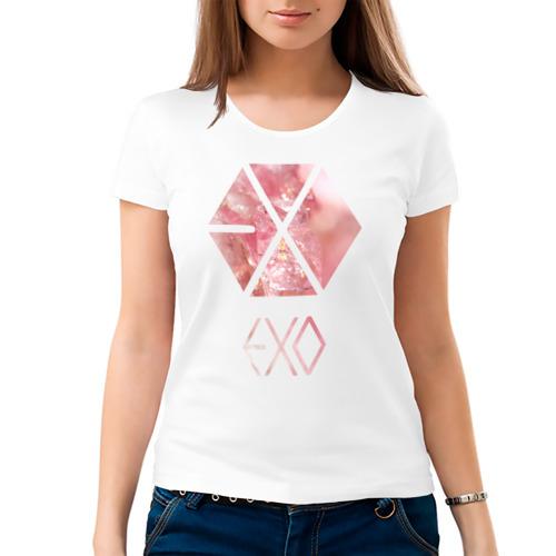 Женская футболка хлопок  Фото 03, EXO chrystal