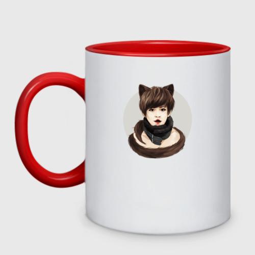 Кружка двухцветная  Фото 01, EXO Kitty